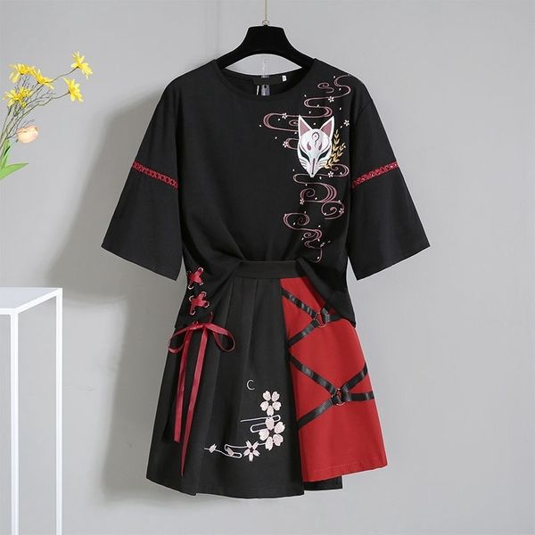 Black + Red Chinese Traditional 2 Piece Set