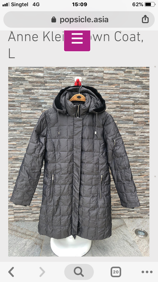 Anne Klein Down Coat, XS, S, M, L, XL