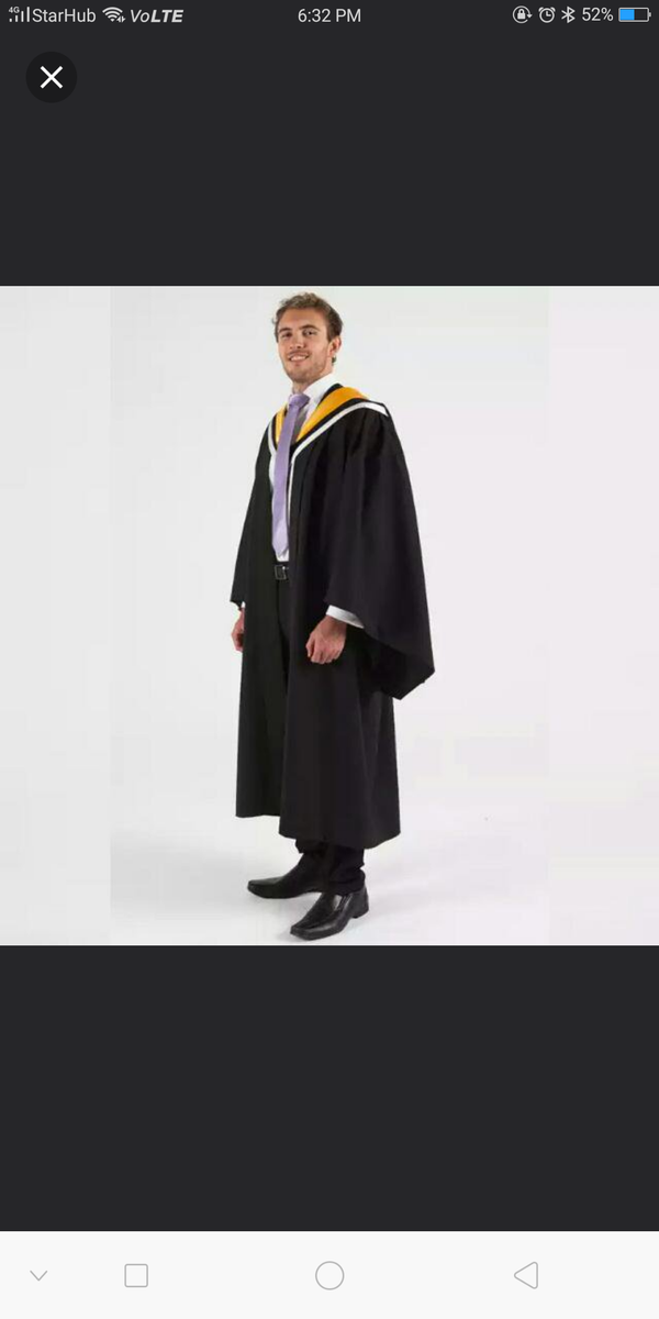 University Of Melbourne Graduation Gown (Bachelor Of Environments)