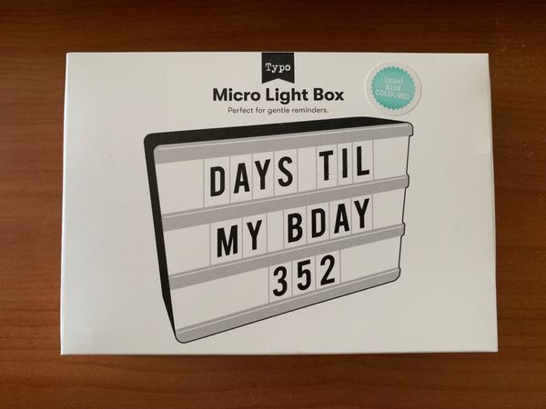 TYPO Light Box