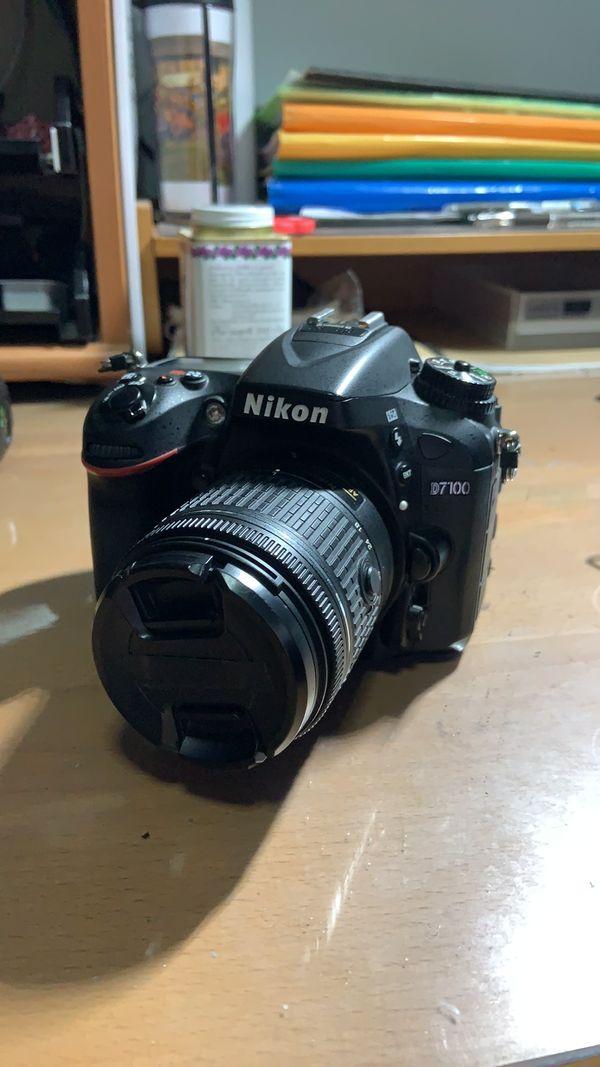 Nikon D7100 with kit lens