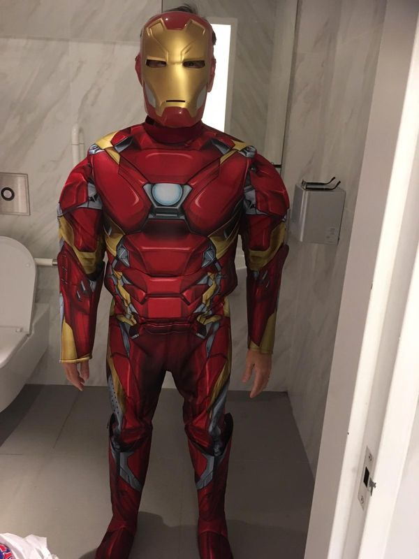 Iron man costume with mask