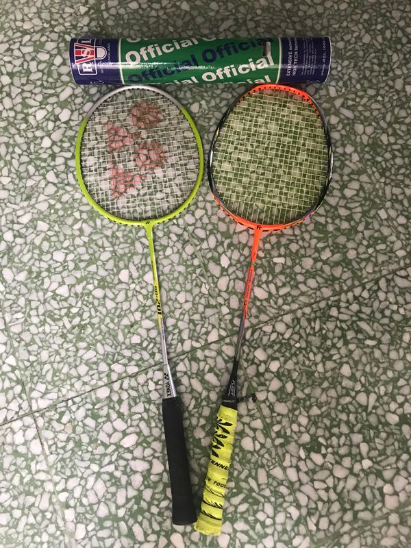 Badminton Rackets + Shuttlecocks