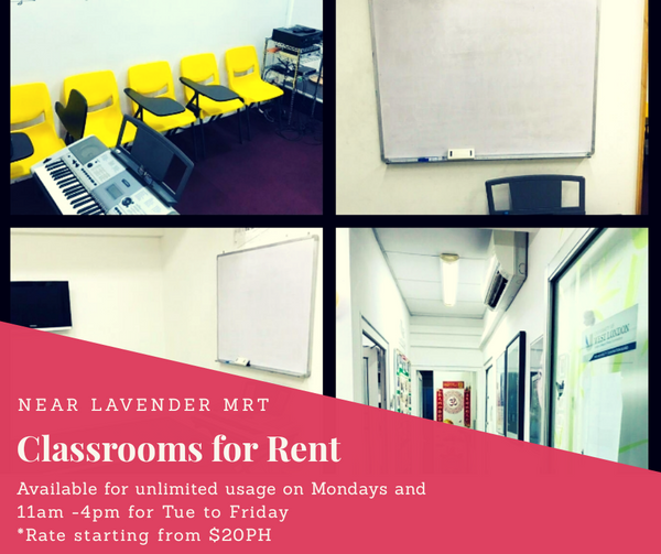 Classrooms Near Lavender MRT for rent