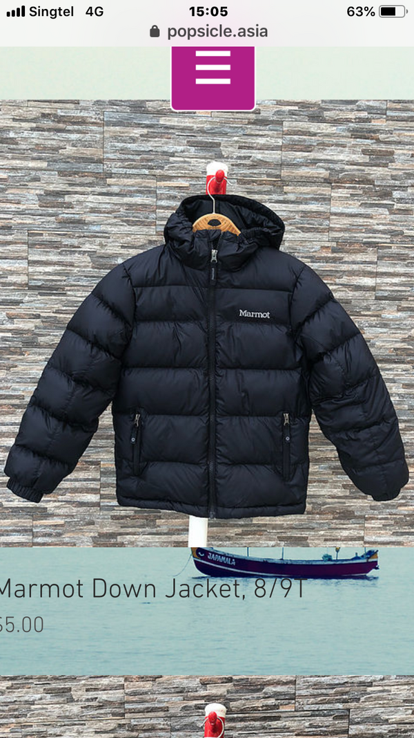Marmot Down Jacket for boys, 4T, 5T, 6T, 7T, 8T, 10T, 12T, 14T