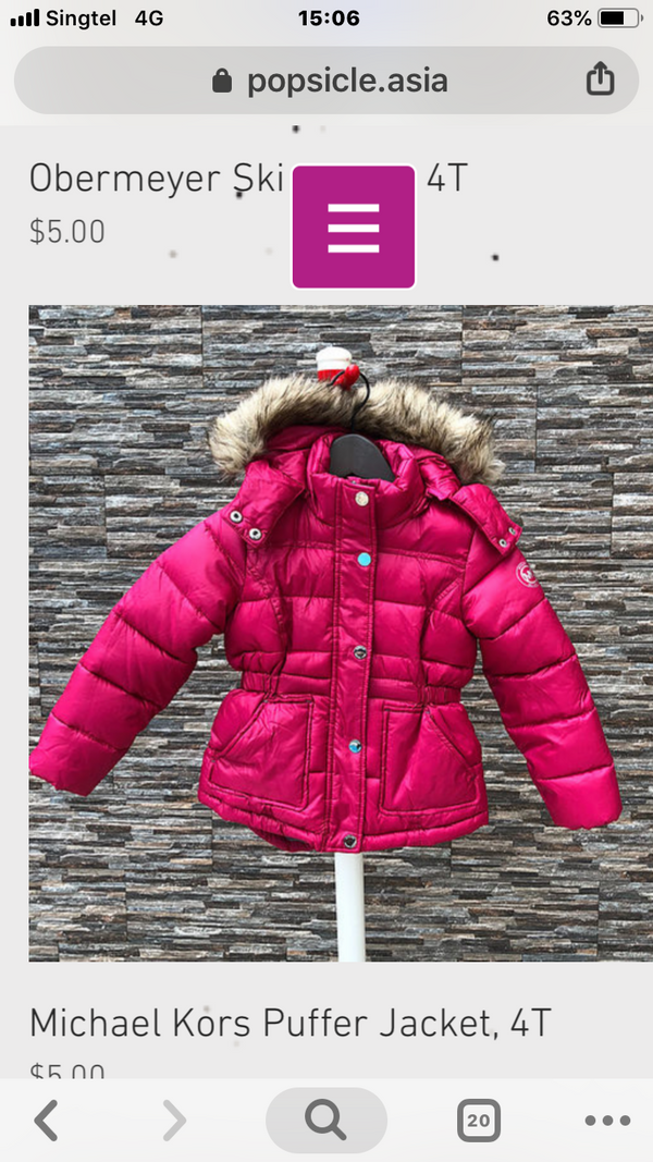 Michael Kors Winter Jacket, 4T