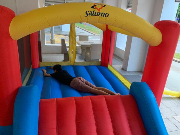 Bouncy Bouncing Jumping Castle House Slide Party