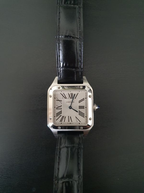 Cartier Santos Dumont Leather Watch