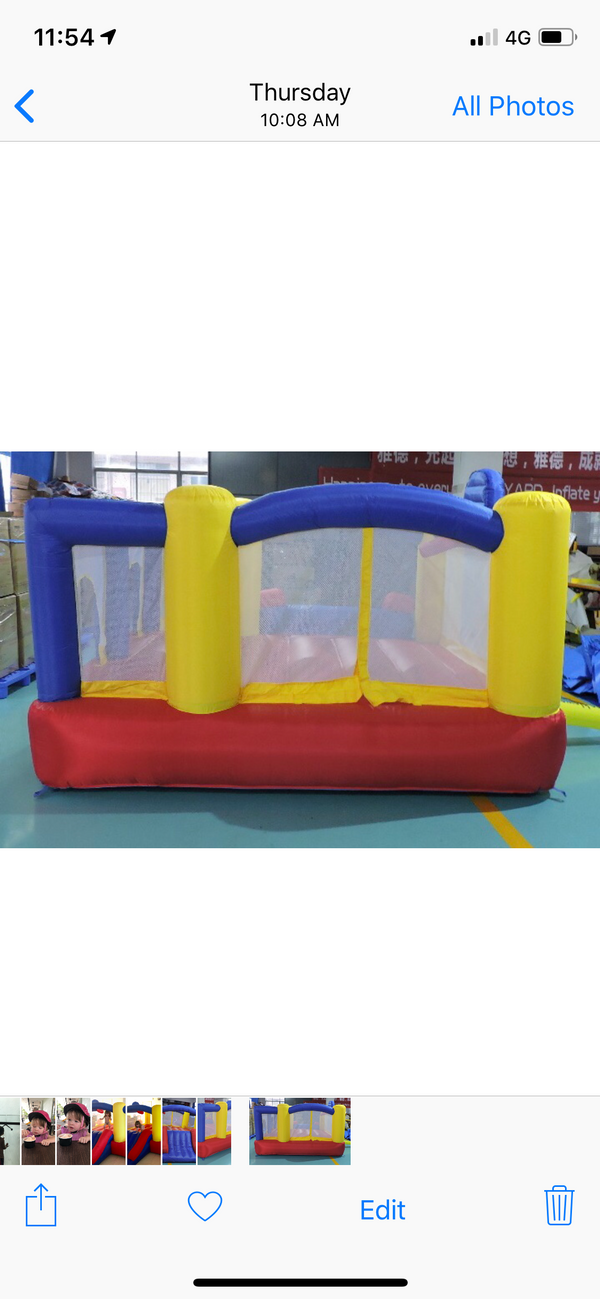 Bouncy castle house with slide house inflatable