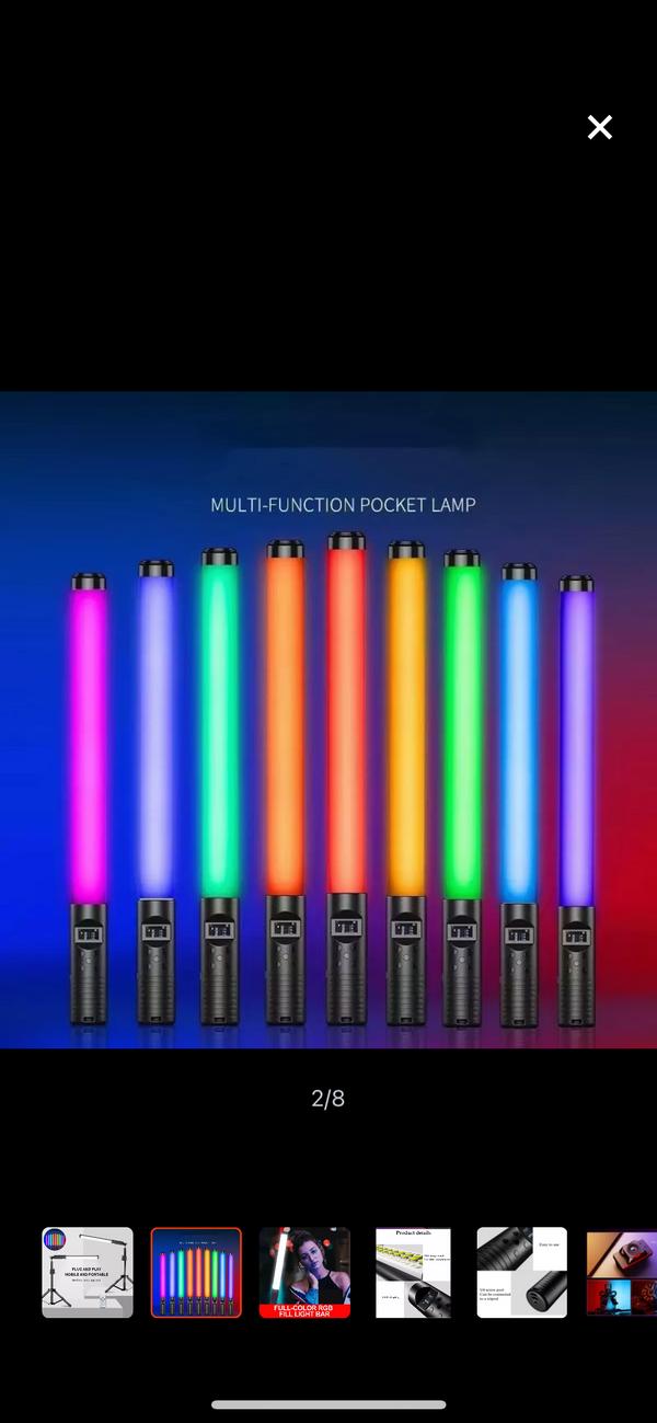 RGB LIGHT TUBE SET OF 2