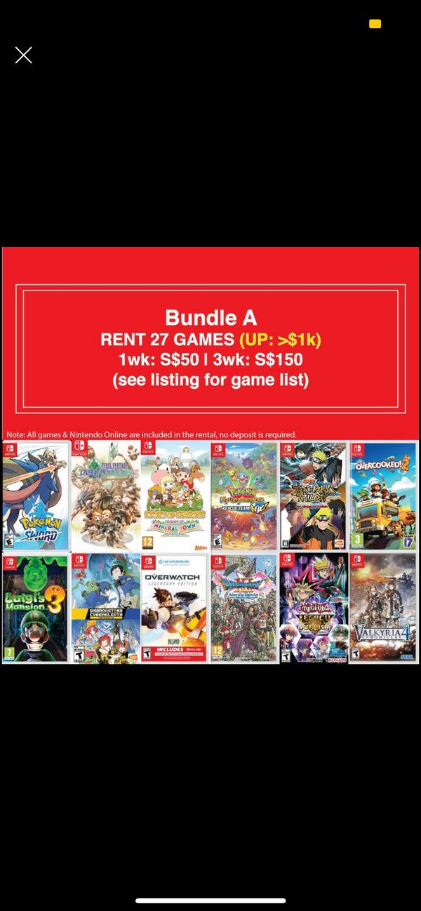 Nintendo Switch Games Rental