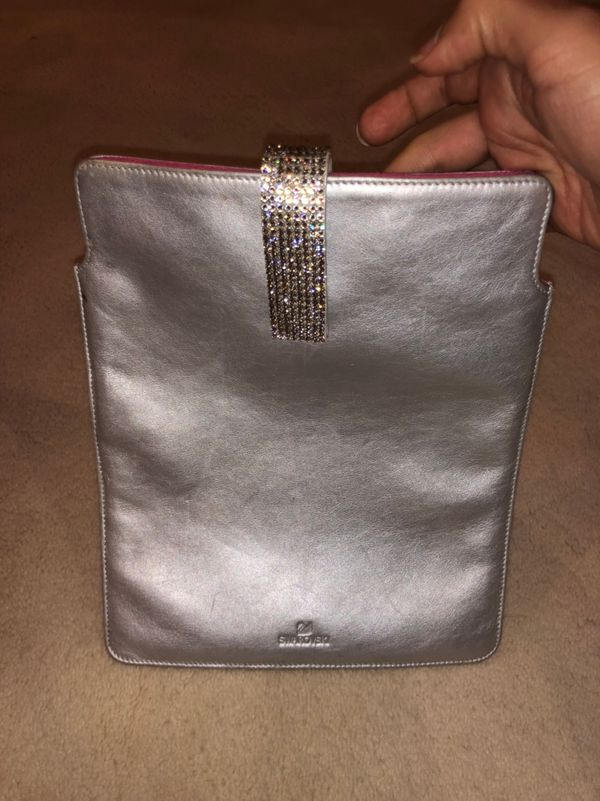 Swarovski silver iPad case