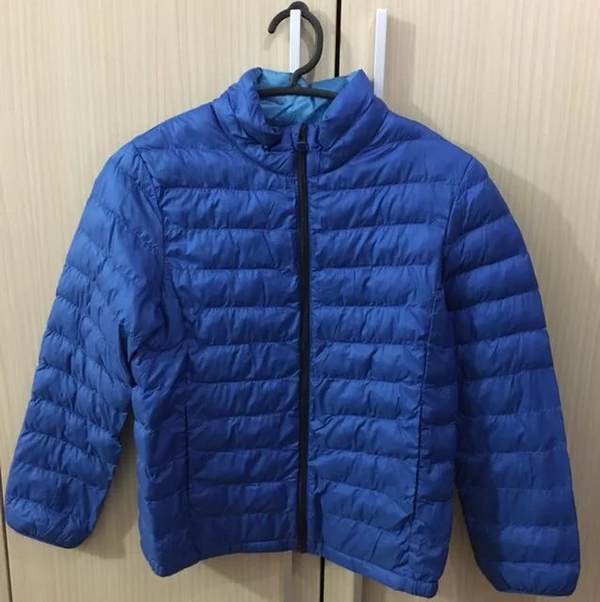 Uniqlo blue winter jacket