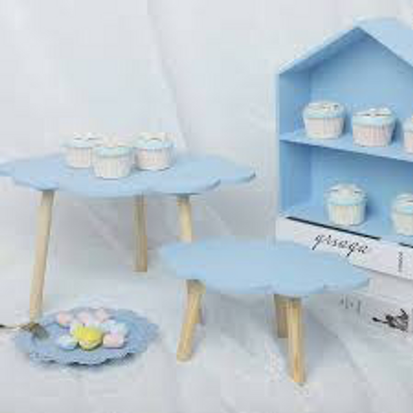 Dessert table cloud design stand - Blue Set