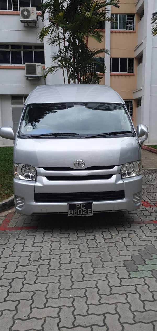 Toyota Hiace 2.4L High Roof For Rent With Driver