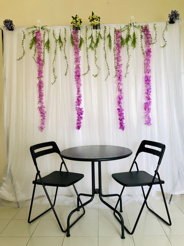 Proposal / Home solemnization backdrop