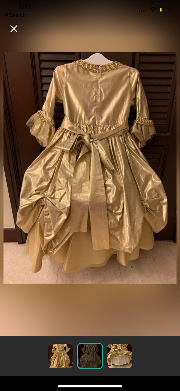 IVOY Paris Gold princess dress