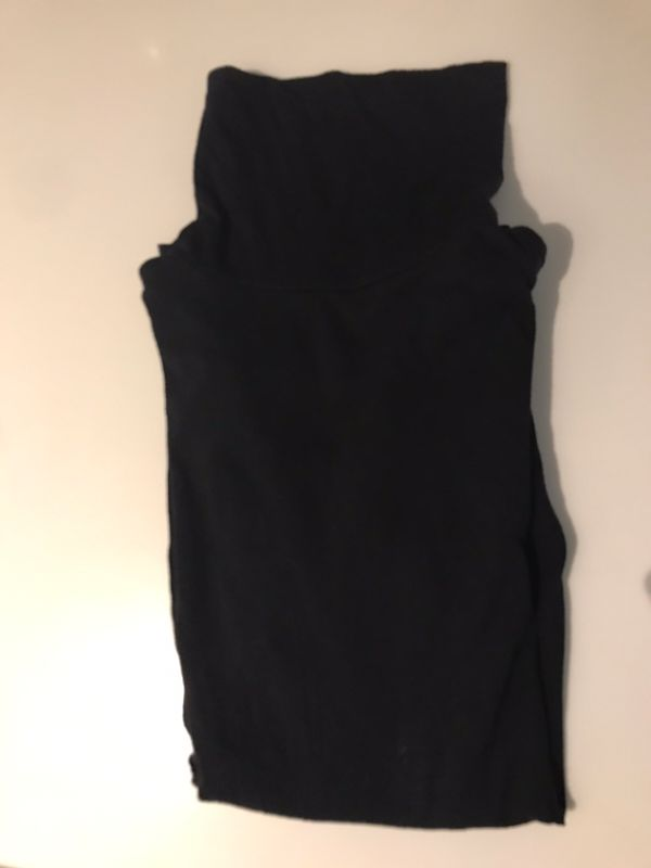 Female black cotton turtleneck