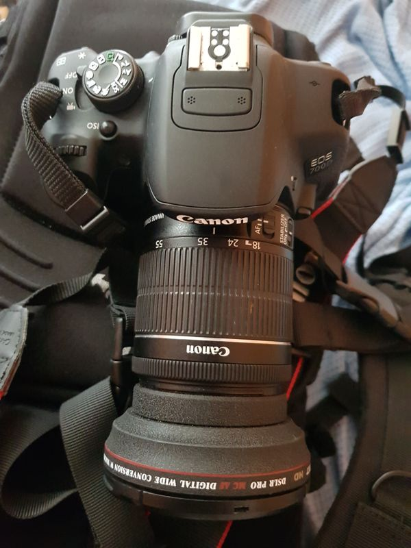 Canon 700 D CAMERA WITH 3 lenses