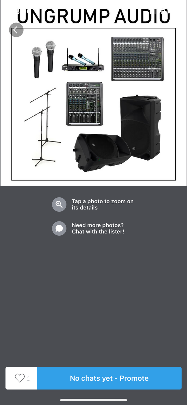 Live sound system for events, weddings, live bands