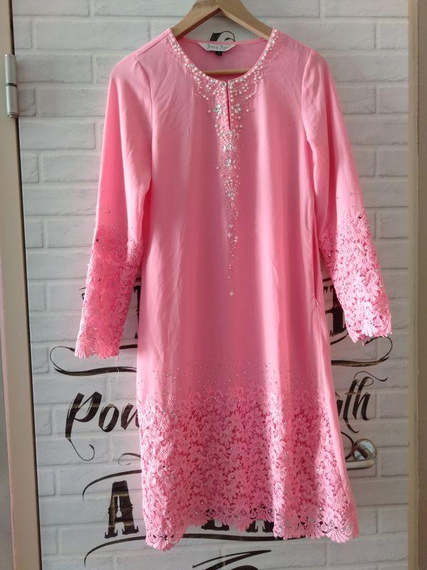 Pink Modern Baju Kurung