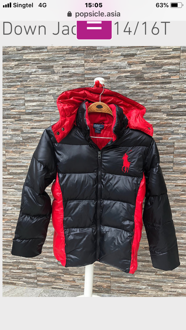 Polo Ralph Lauren Down Jacket for boys, 4T, 5T, 6T, 7T, 8T
