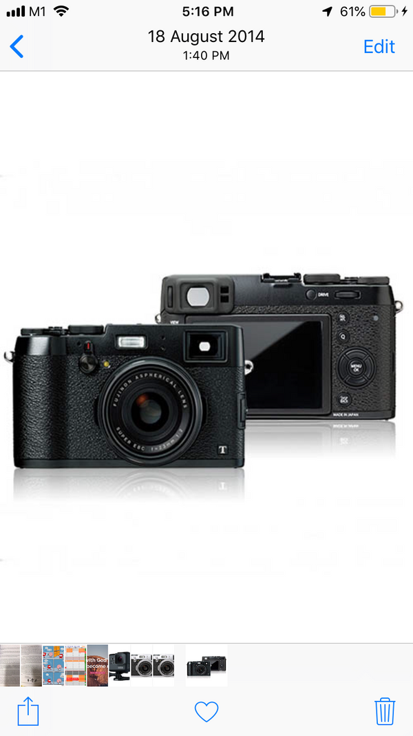 Fujifilm X100T mirrorless f2.0 black