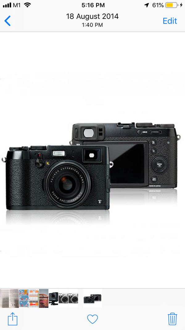 Fujifilm X100T mirrorless f2.0 black