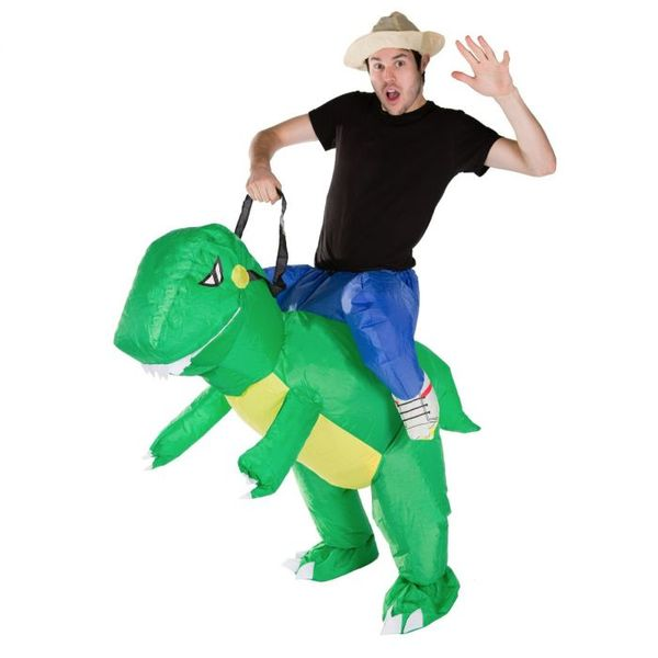 Inflatable cute dinosaur for adults
