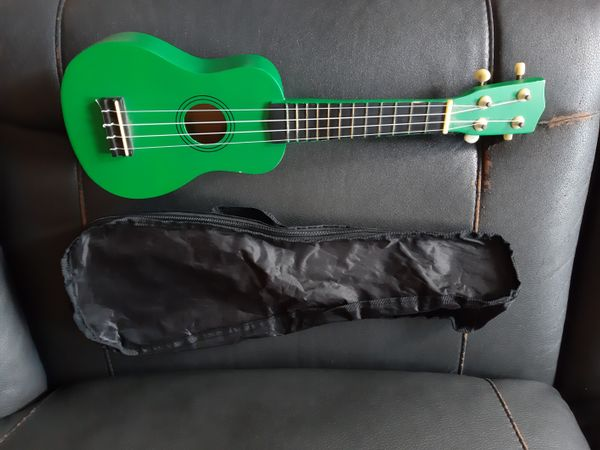 Green Ukulele With Bag