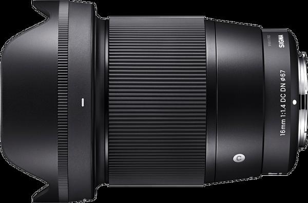 Sigma 16mm 1.4f Lens