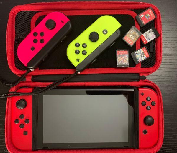 Nintendo Switch + 5 Games (w/ dock)