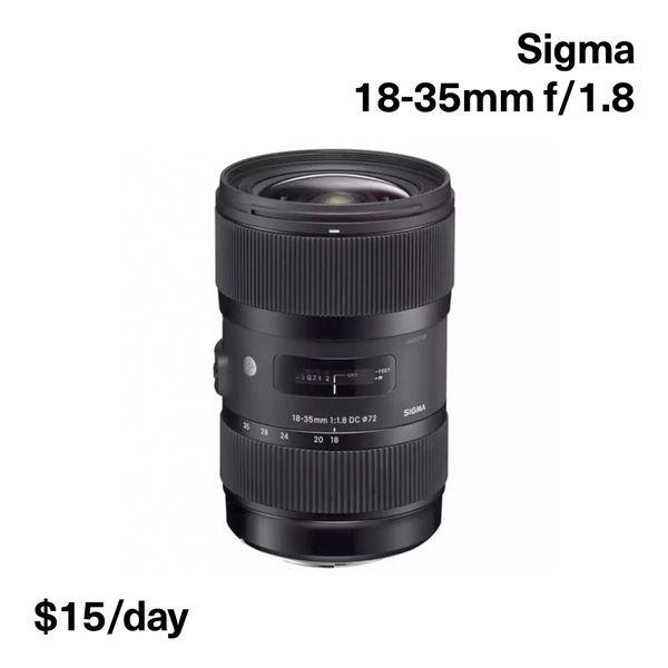 Sigma 18-35mm f1.8 (EF)