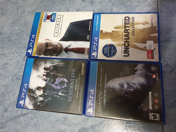 PS4 Games, Excluding HITMAN
